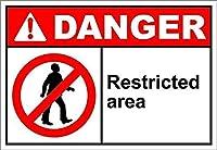 インチ、エンジニアグレードティンサイン制限区域危険金属ポスタープラーク警告サイン鉄絵画アート装飾バーカフェガーデン寝室オフィスホテル