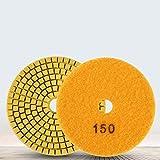 Muela abrasiva, 100Mm 4'Fuerza de esmerilado fuerte y suavidad Almohadilla de pulido para discos de esmerilado de diamante mojado para granito(#3)