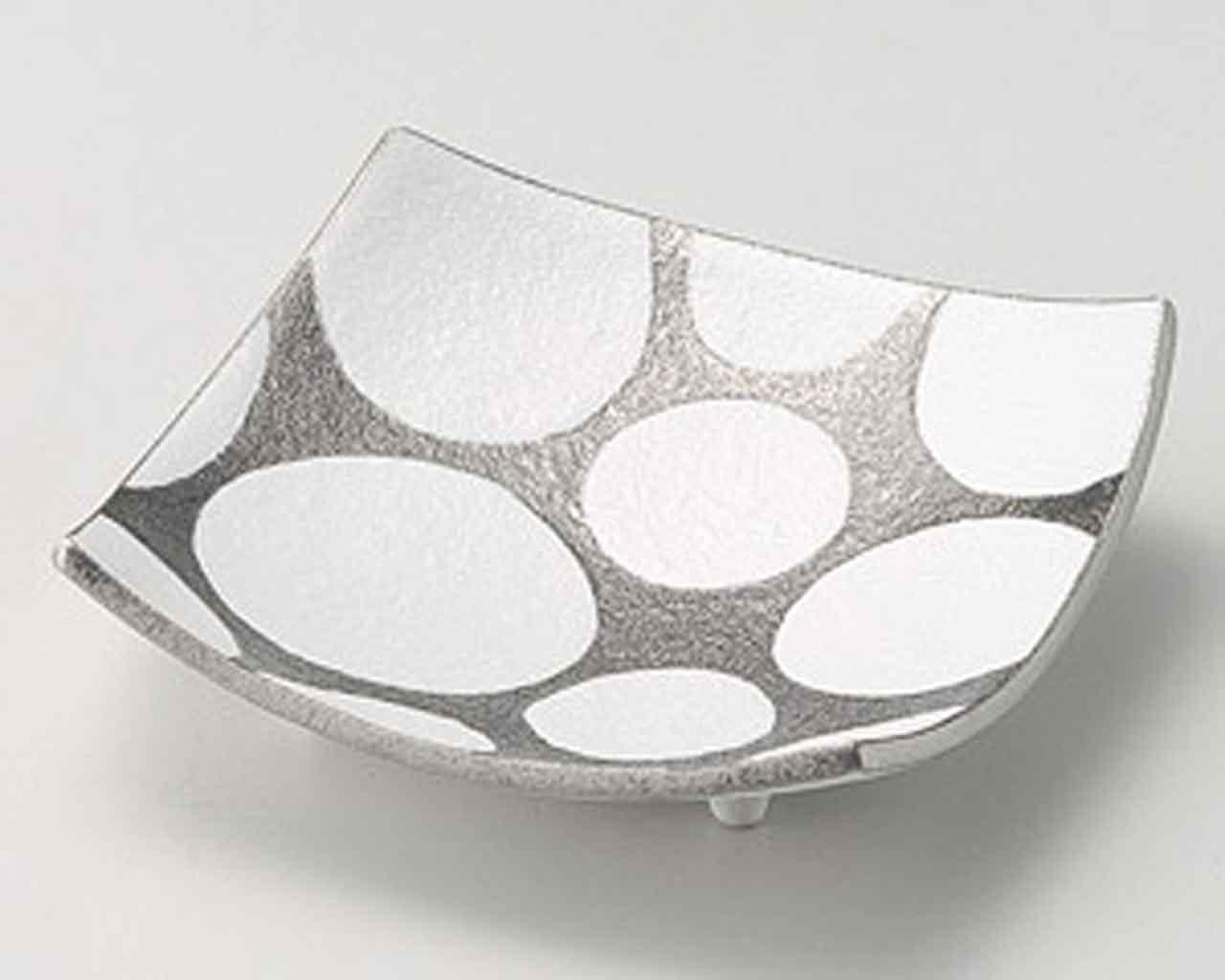 Ginsai Silver Dots 6.1inch Cheap sale Medium in porcelain Made White favorite Plate