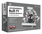 FRANZIS 67152 - Volkswagen Bulli T1 Boxermotor, hochwertiger VW Modell-Bausatz des 4-Zylinder Motors, Maßstab 1:4, 200 Bauteile zum Stecken und Schrauben, inkl. Soundmodul, Anleitung und Begleitbuch