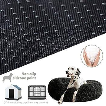 Puppy Love Panier Chien, Coussin Chien Anti Stress XXXL Dehoussable,Paniers Et Mobilier pour Chiens, Lit Moelleux Rond pour Chien, Lavable, Confortable