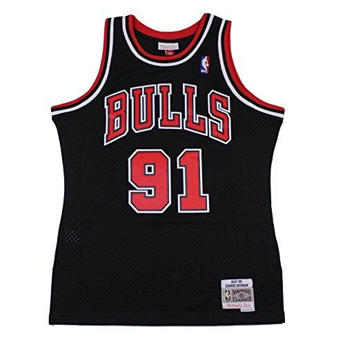 Mitchell & Ness Dennis Rodman #91 Chicago Bulls 1997-98 Swingman NBA Trikot SCHWARZ, XXL