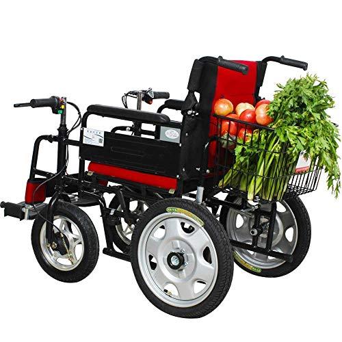 WXDP Selbstfahrender Rollstuhl,-Faltbare elektrische s, elektrische zusammenklappbare leichte ältere behinderte Roller Allrad Offroad kann gesetzt Werden A