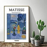 花瓶スタイルの絵画、モダンなミニマリストのリビングルームの装飾絵画、キャラクターホテル抽象インク絵画壁画、木製フレーム 装飾品 (Size : 30*40cm)