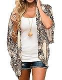Heynino Cardigan Kimono da donna in chiffon aperto davanti stampa floreale spiaggia coprire mantelle sciolte camicetta Tops…, Stampa serpente., L