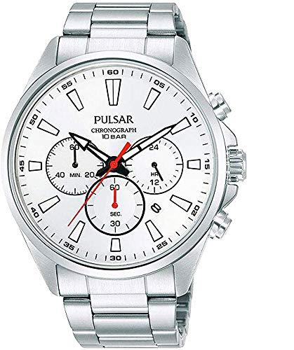 【セット商品】[パルサー] セイコー SEIKO パルサー PULSAR クロノグラフ腕時計 PT3A47X1 &マイクロファイバークロス 13×13cm付き[並行輸入品]