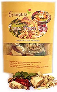 Sangkla Tom yum set Thai Food Hot & Spicy Soup from Natural ready-made for the kitchen add shrimp shellfish crab fish pork chicken meat On demand 40g