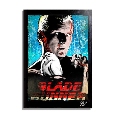 Roy Batty, el replicante de Blade Runner - Pintura Enmarcado Original, Imagen Pop-Art, Impresion Poster, Impresion en Lienzo, Cuadro, Comics, Cartel de la Pelicula