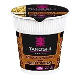 Tanoshi Cup Nouilles japonaises instantanées - Saveur Poulet Shitaké - 65 g - Pour...