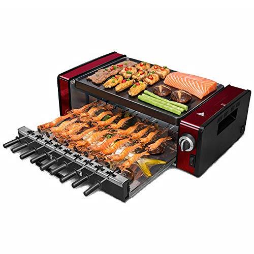 YFGQBCP 1200W eléctrico Raclette Grill Exterior e Interior, sin Humo de la...