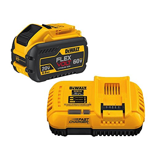 DEWALT 60V MAX FLEXVOLT Lithium Battery with Charger, 9-Ah (DCB118X1)