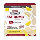 A creamy Slim-Fast Keto fat Bomb creation exploding with rich and refreshing lemony flavor cloaked in indulgent white chocolate Icing Each Keto fat Bomb snack cup is loaded with 8 grams of keto-friendly fats to maintain your Keto diet strong 14 conve...
