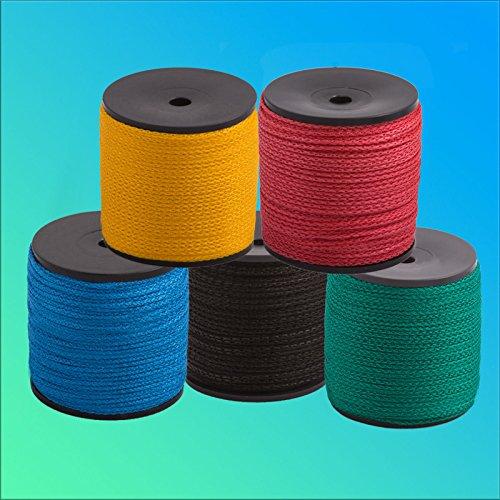 7 unidades de hilo de albañil 100 m/2 mm negro, verde, azul, rojo, amarillo