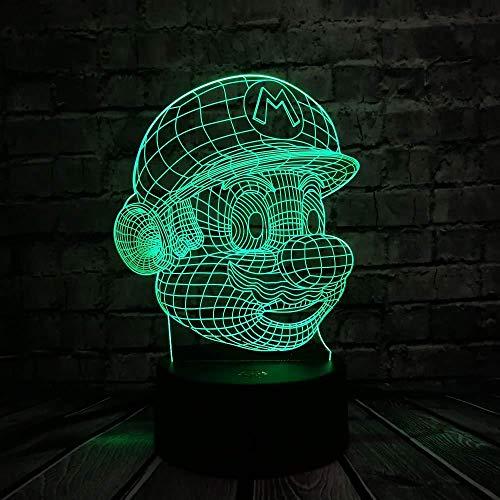 3D Slideshow 3D Illusion Lampe Nette Zeichentrickfiguren Led Nachtlicht 7 Farben Blinkende Touch Schalter Nachttisch Schlafzimmer Dekoration Kinder Beleuchtung Navi Geschenk