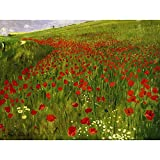 Wee Blue Coo Prints Painting MERSE Meadow with Poppies Art Print Picture Poster HP2990