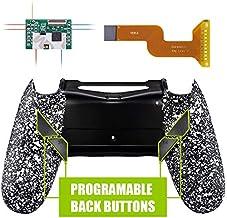 eXtremeRate Dawn Programable Remap Kit PS4 Scuf Reasignación de Botones para Playstaion 4 con Mod Chip&Carcasa Trasera&4 Botones Traseros Compatible con PS4 JDM 040/050/055(Salpicaduras Blancas)