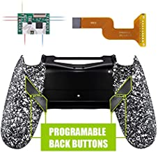 eXtremeRate Dawn Programable Remap Kit for PS4 Controller with Mod Chip & Redesigned Back Shell & 4 Back Buttons - Compatible with JDM 040/050/055 - Textured White