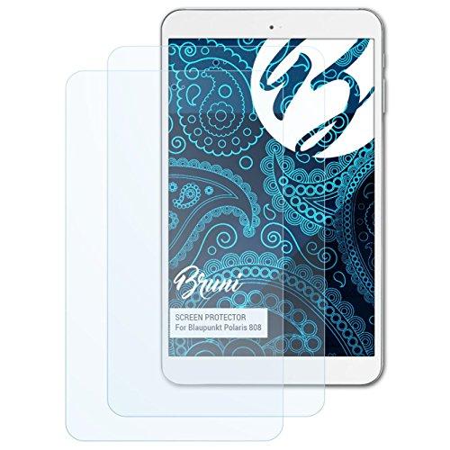 Bruni Schutzfolie kompatibel mit Blaupunkt Polaris 808 Folie, glasklare Bildschirmschutzfolie (2X)