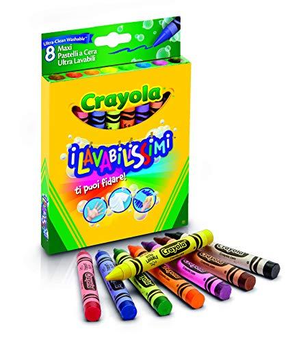 Crayola - 8 Gros crayons à la cire ultra lavables - Coloriage - 256317.012