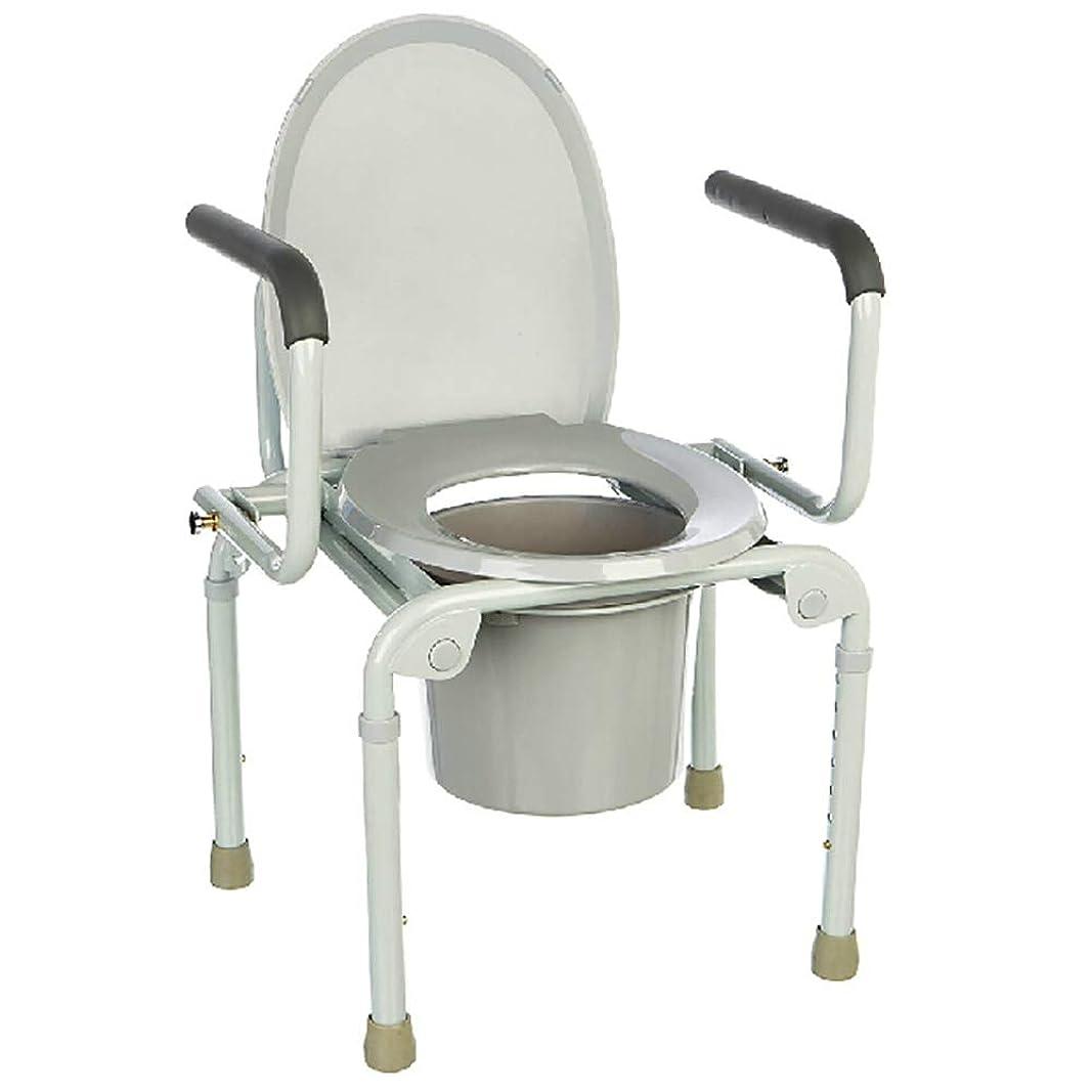 影響力のあるひねくれた冒険家Global リムーバブルコメード軽量アルミ製バスルームトイレシートベルト付きホイール/障害物トップローディングで簡単に高齢者モビリティエイド便器椅子
