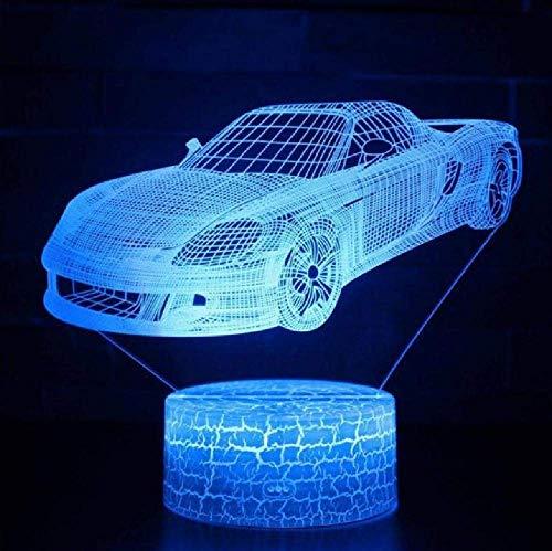 Luz nocturna de escritorio de las lámparas de noche principales color 3D del tractor 16 del camión del coche de carreras