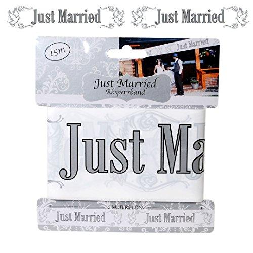 Slinger afsluitband FOL210768(1) afsluitband Just Married, wit