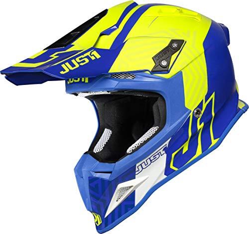 JUST 1 casco J12 PRO Syncro Fluo Giallo-Blu 64-XXL