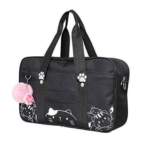 Himifashion schule handtasche für frauen japanischen college. (Black)