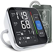 Blood Pressure Monitor Upper Arm, Fitreno Blood Pressure Large Cuffs Monitor for Home Use with Backlit Display & HR Detection, Digital BP Machine with Carrying Case for Adult & Pregnancy