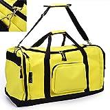 monzana Sporttasche Reisetasche Tasche | 70 cm | 95 Liter Volumen | Schultergurt abnehmbar und verstellbar | gelb - Reisekoffer Koffer