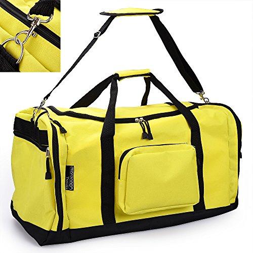 Monzana Borsone Palestra con più scomparti Borsone Sport |70 cm| 95 Litri| Tracolla rimovibile e regolabile gialla – Borsone