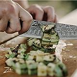 Zelite Infinity Kochmesser 20 cm - Küchenmesser aus Japanischem AUS-10 Super-Edelstahl– Schärfstes Professionelles Gyuto Damastmesser - für Zuhause oder Restaurantküche - Damastmesser Küchenmesser - 7