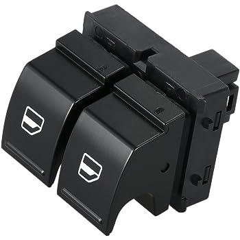 Keenso Auto Fensterheber Schalter 4 1 3 2 5cm Auto Elektrischer Fensterschalter Fensterheber Schalter Für B6 Golf Mk5 Eos Caddy 2k0959857a Auto