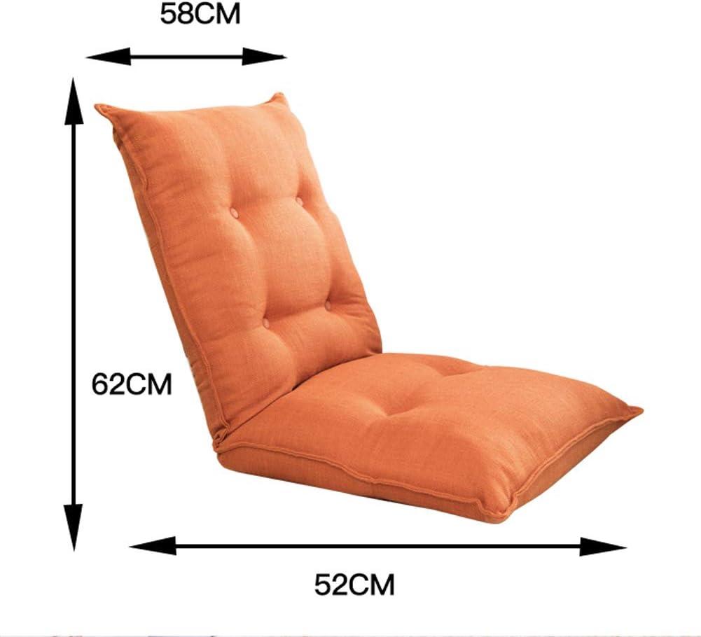 Joy-Beau Chaise de canapé rembourrée paresseuse réglable 42 Positions Tatami Portable Pliante Chaise de Sol Simple pour Chambre Salon Jeu Lecture Regarder des Films Olive Green