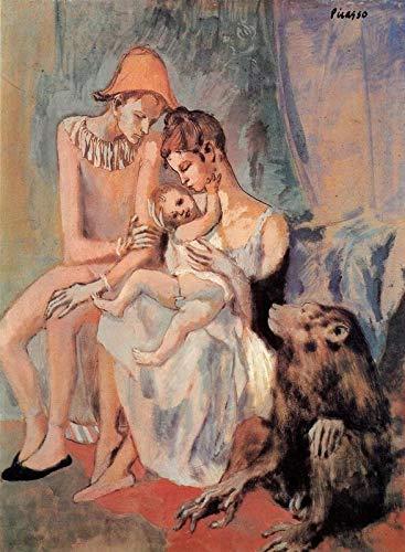 Poster della famiglia di acrobati con scimmia 1905 Picasso – Migliore stampa artistica di qualità decorazione da parete regalo, Canvas A0 (Prodotti per l'infanzia)