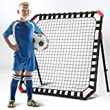 TGU Soccer Rebounder - Football Training Gifts, Aids & Equipment for Kids & Teens | Portable Kick-Back Rebound Net, Skills Trainer for Team Exercises & Solo Practice, Black, 4ft x 4ft (NOS032402020)