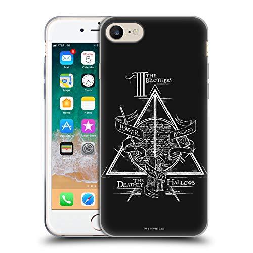 Head Case Designs sous Licence Officielle Harry Potter Triangle Symbol Deathly Hallows XIV Coque en Gel Doux Compatible avec Apple iPhone 7 / iPhone 8 / iPhone Se 2020
