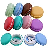 Mini Pill Case,8pcs Macaron Jewelry Boxes Portable Travel Pill Boxes Jewelry Case Kids Party Favor Boxes