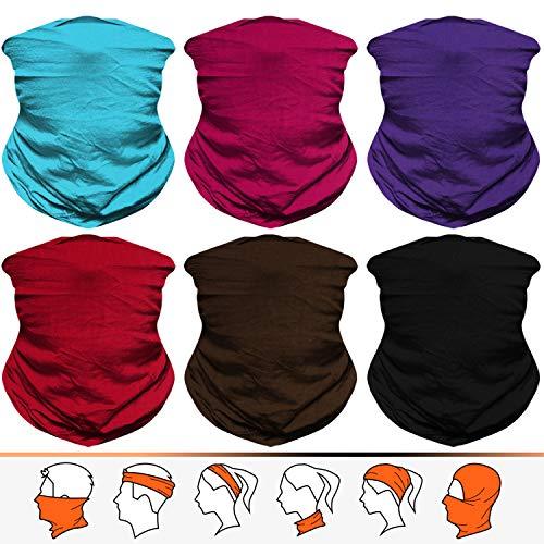 JOEYOUNG Bandanas Multifunktionstuch Schal Headwear Neck Gaiter, Head Wrap für Frauen, Magic Head Scarf, Gesichtsmaske, Sturmhaube, Schweißband für Angeln, Yoga, Motorrad