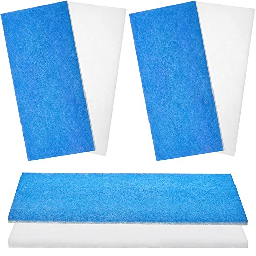 3 Pieces Airbrush Spray Booth Filter Paint Booth Filter Pad Spray Booth Exhaust Filter Fiberglass Booth Replace Filter Compatible with Master, Paasche, Sky Enterprise, Airhobby