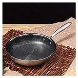 Acciaio inossidabile Frying Temperatura Temperatura antiaderente uovo bistecca frittura padella a forma di gas cucina utensili da cucina universale (Color : 11 IN)