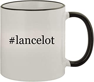 #lancelot - 11oz Ceramic Colored Rim & Handle Coffee Mug, Black