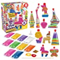 Creative Kids DIY Super Sand Art Activity Kit for Kids – Create Your Own Crafts – 10 x Sand Art Bottles, 10 x Vibrant Colored Sand Bags & 1 x Glitter Bag – STEM Playset - Gift for Boys & Girls 3 +