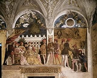 Bedroom of the Wife North Wall -The Court (Detail) (Camera degli Sposi) Andrea Mantegna (1431-1506Italian) Fresco Palazzo Ducale Mantua Poster Print (24 x 36)