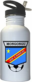 Cedric Mongongu (DR Congo) Soccer White Stainless Steel Water Bottle Straw Top