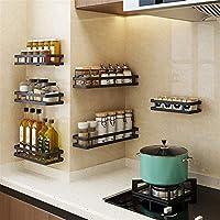多機能のキッチン収納ラック釘のないステンレス鋼の壁の貯蔵の棚のスパイスの棚 スパイスラック (Size:35cm; Color:05#)