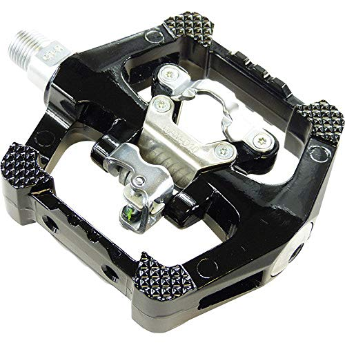 Wellgo WAM-D10 Plattform-Klickpedale/Fahrrad-Pedale // MTB/Trekking, Variante:Schwarz