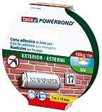 tesa TE55751-00002-03 Powerbond Exterior Mancheta, Transparente, 5m x 19 mm