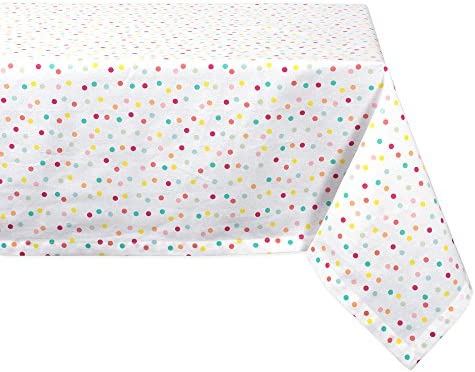 DII CAMZ38752 Cotton Tablecloth for for Dinner Parties Weddings Everyday Use 60x104 Polka Dots product image