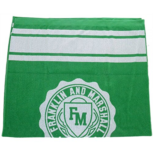 Franklin & Marshall Crest Logo Jelly Green Unisex Beach Towel One Size